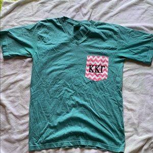 Comfort colors Kappa Kappa Gamma pocket tee!